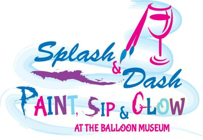 Splash n 39 dash paint sip glow at the balloon museum at for Paint and wine albuquerque