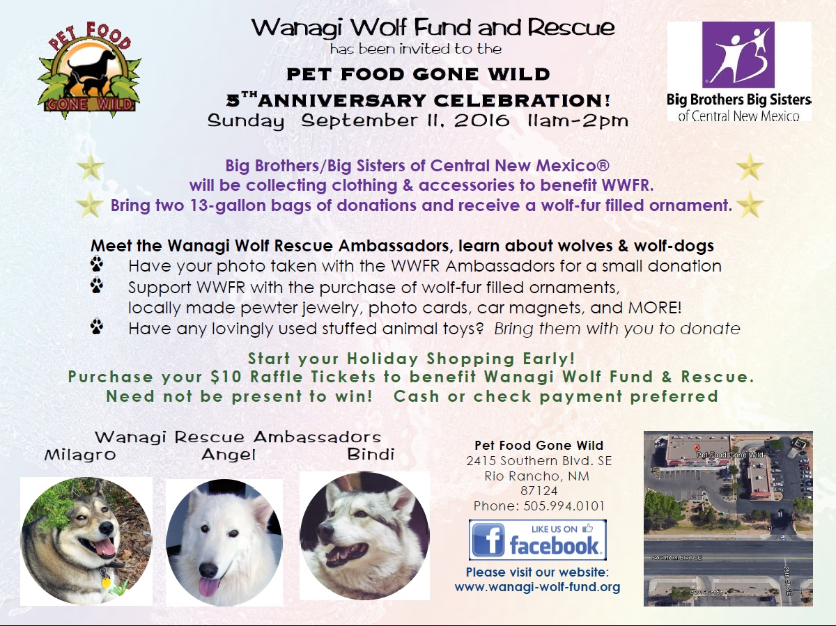 Wanagi Wolf Fund And Rescue At Pet Food Gone Wild Rio Rancho