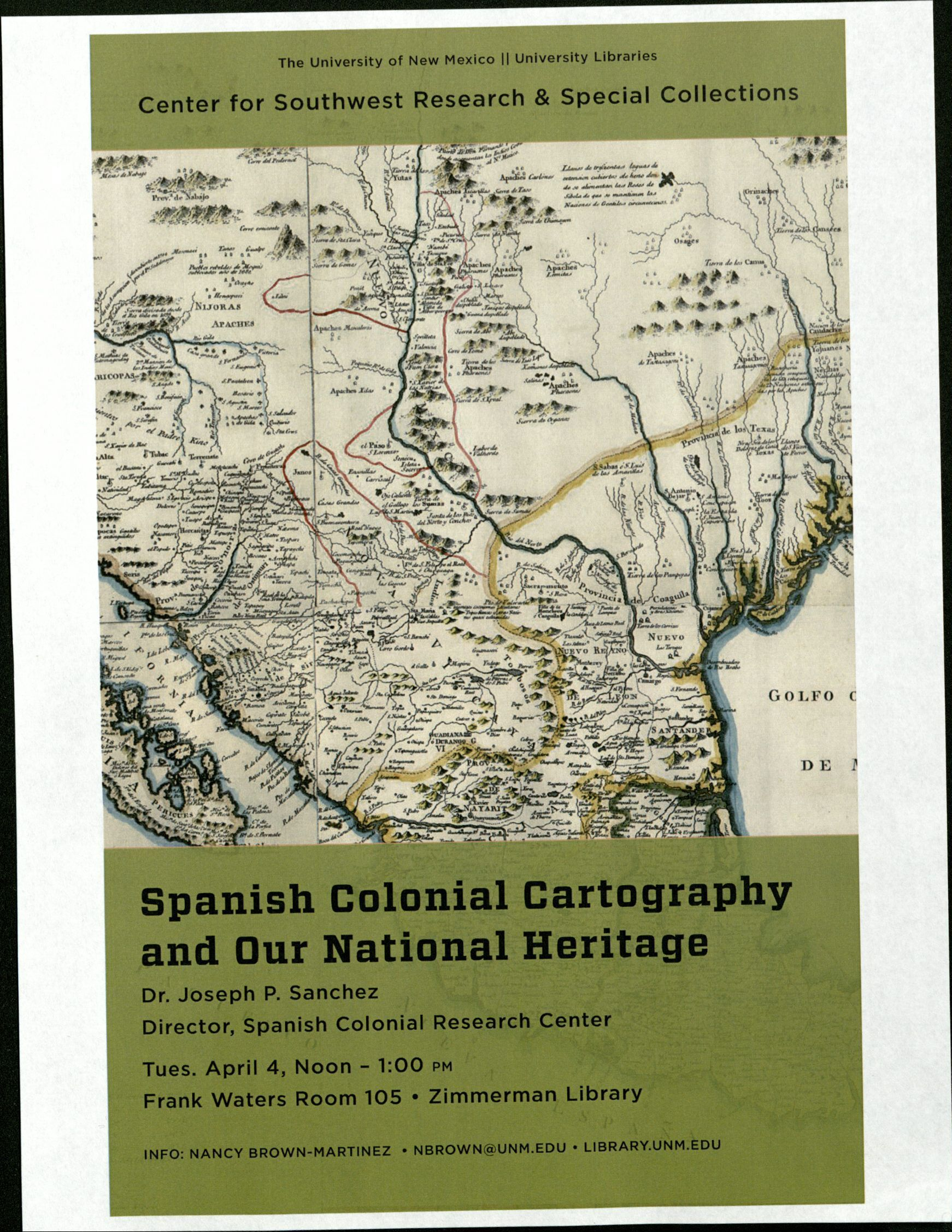 Talk on Spanish Maps of North America at UNM Zimmerman Library ...