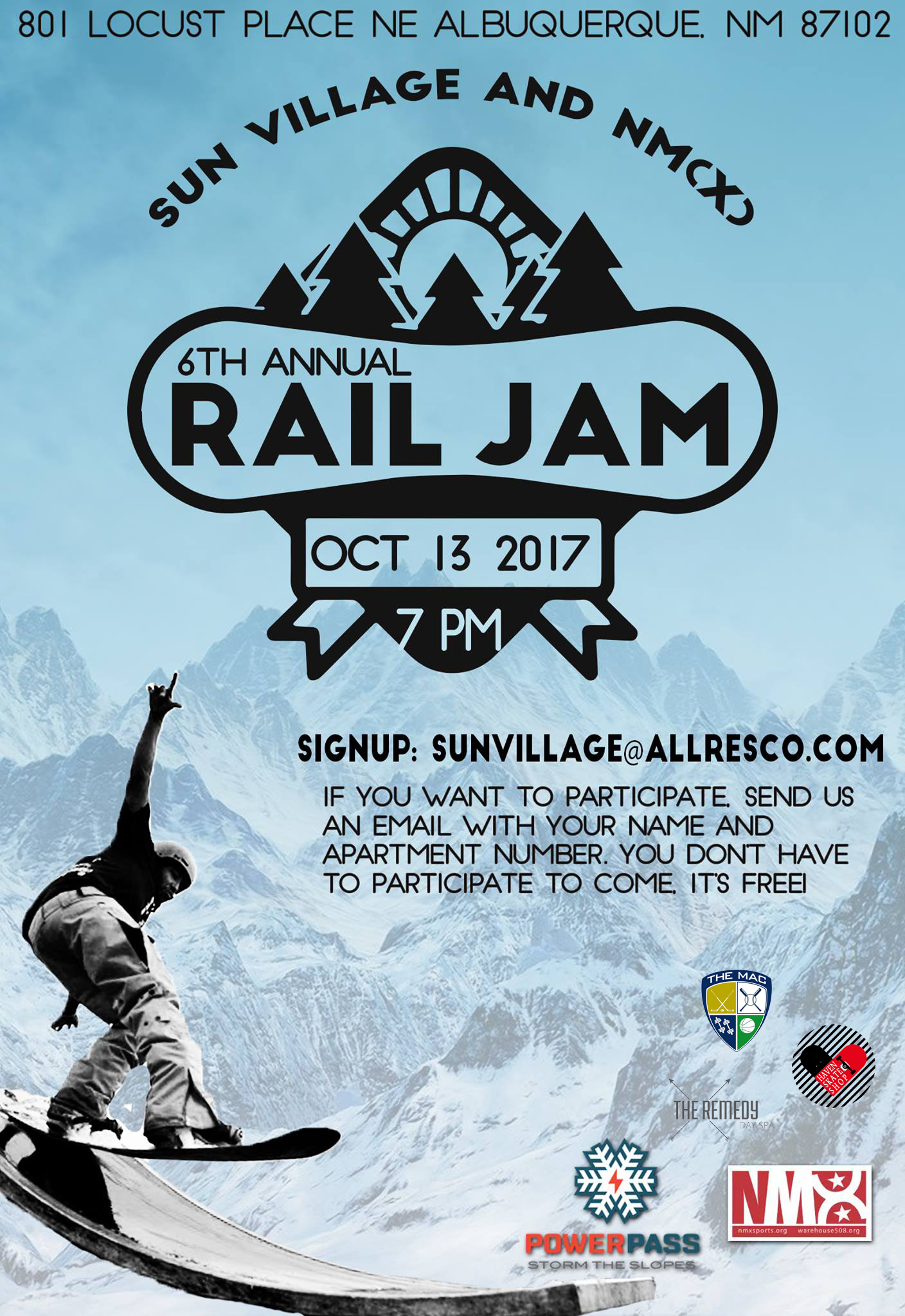 Sixth Annual Rail Jam at Sun Village Apartments, Albuquerque