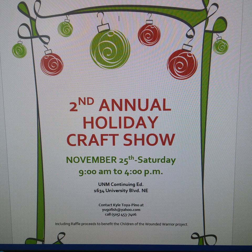 Holiday craft show at unm continuing education building for Craft shows in albuquerque 2017
