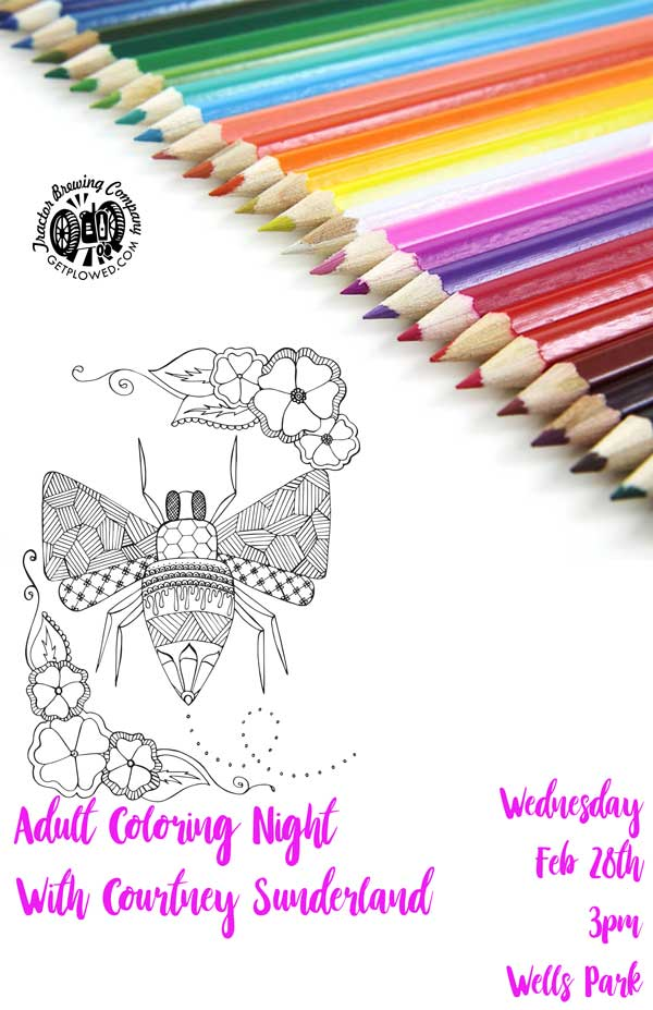 Adult Coloring Night at Tractor Brewing Wells Park, Albuquerque