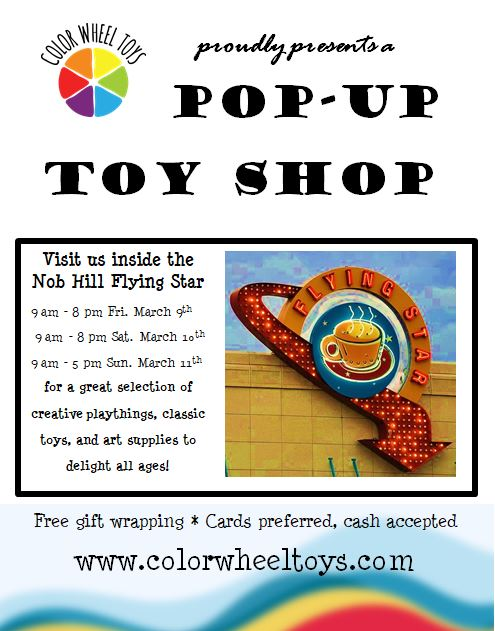Color Wheel Toys Pop Up Toy Shop At Flying Star Cafe Albuquerque