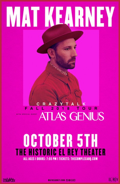 Mat Kearney @ The Historic El Rey Theater