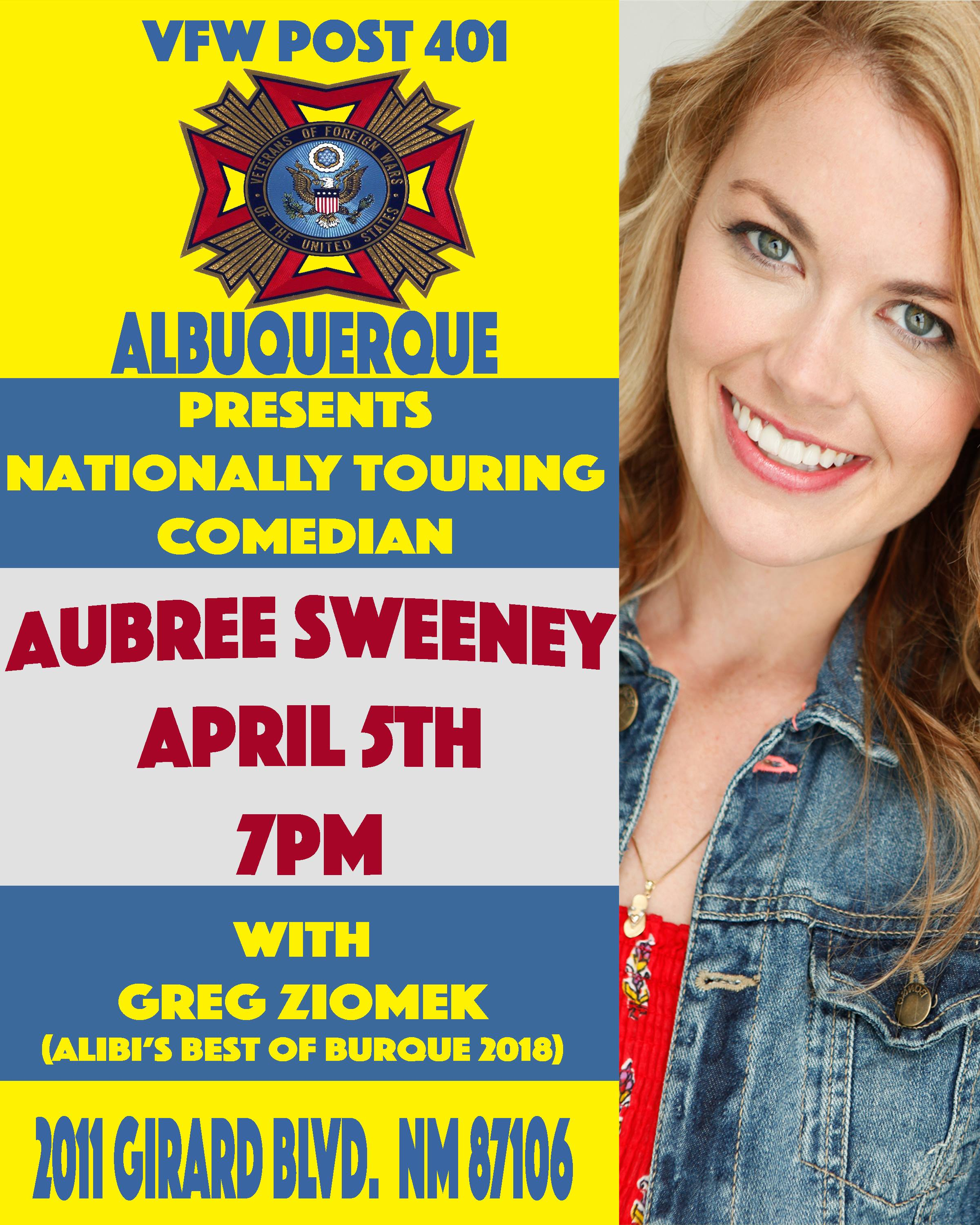 Stand-Up Comedy With Aubree Sweeney And Greg Ziomek At VFW