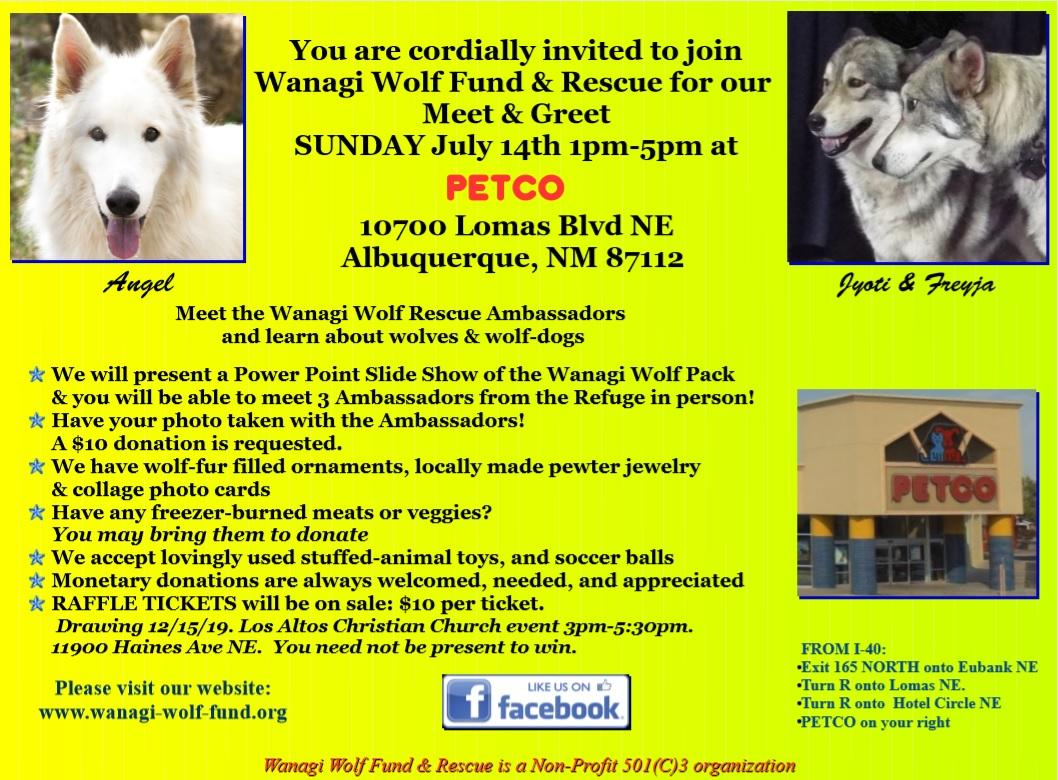 Wanagi Wolf Fund and Rescue Meet and Greet Event at PetCo, Albuquerque