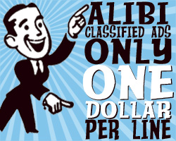 Alibi Classified Ads Only One Dollar Per Line